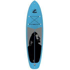 Indiana SUP 10'6 Family - Planche - with 3 Pieces Fibre/Plastic Paddle gris/bleu
